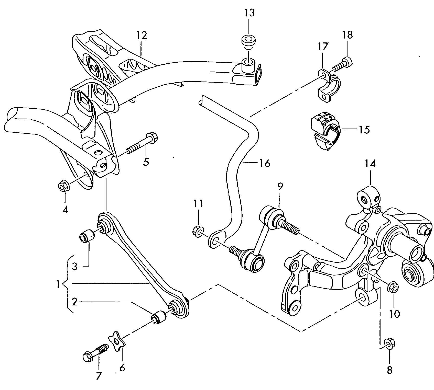 Схема задней подвески шкоды а5